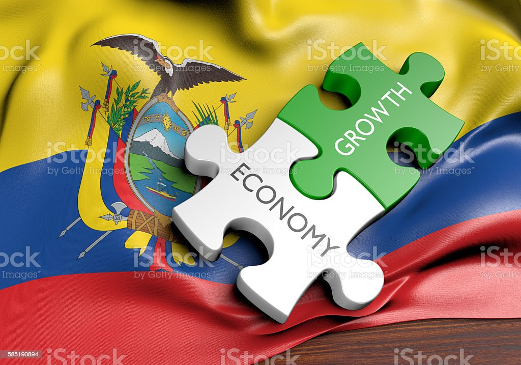 Ecuador economy and financial market growth concept, 3D rendering stock photo
