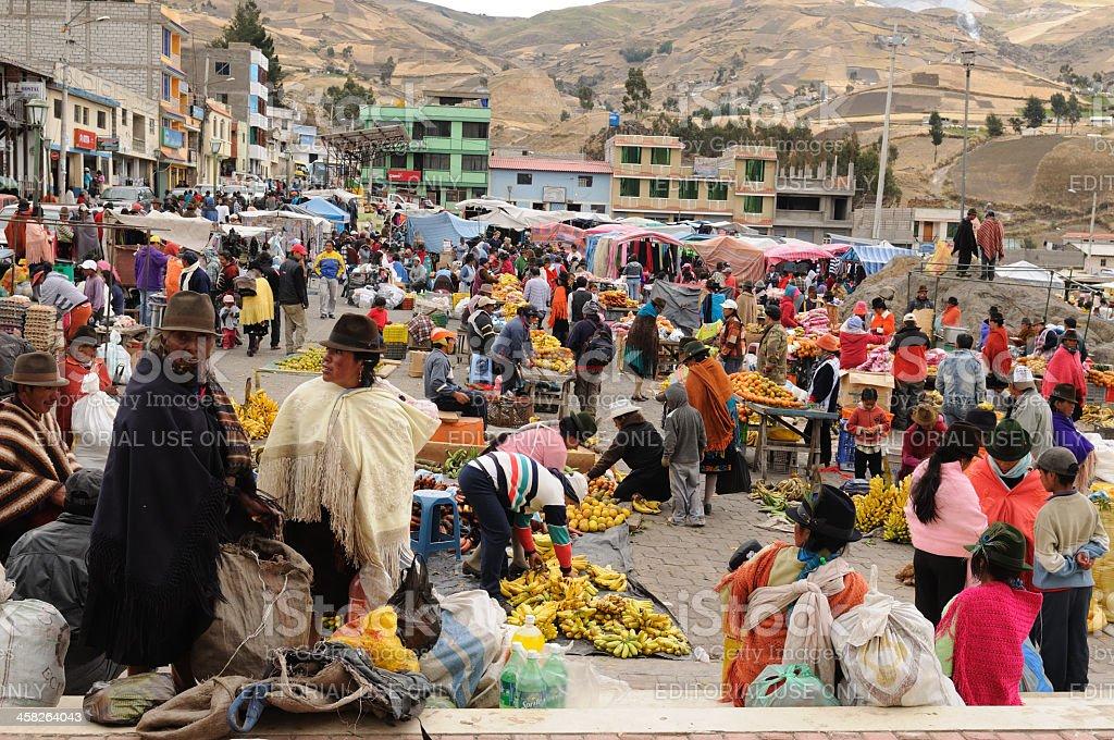 Ecuador, Ethnic market stock photo
