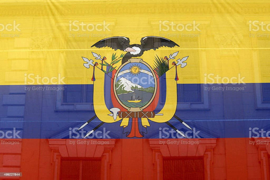 Ecuador flag stock photo