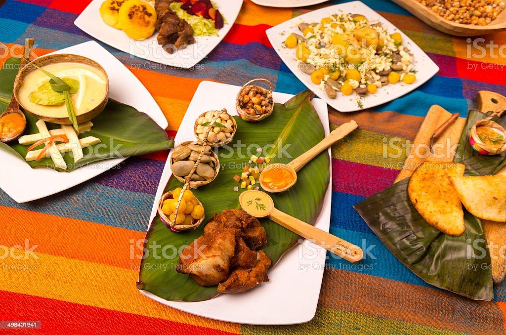 ecuador food stock photo