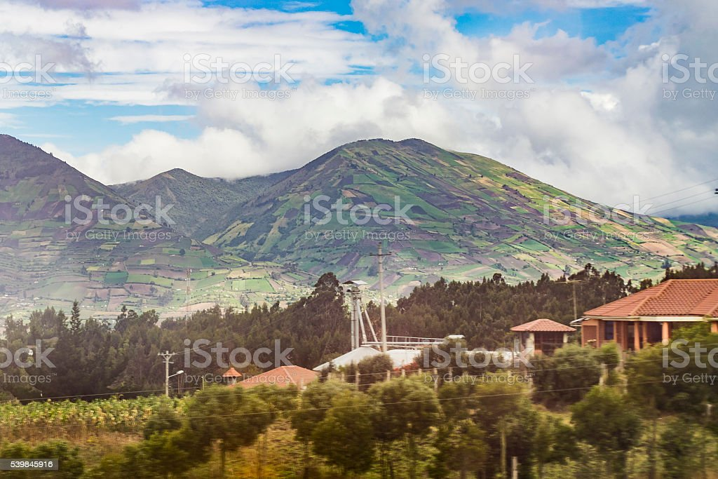 Ecuador Landscape Scene at Andes Range stock photo