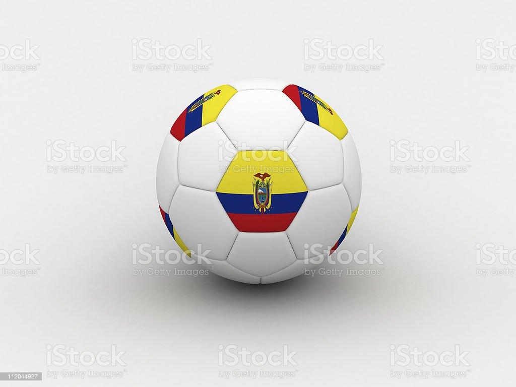 Ecuador soccer ball royalty-free stock photo