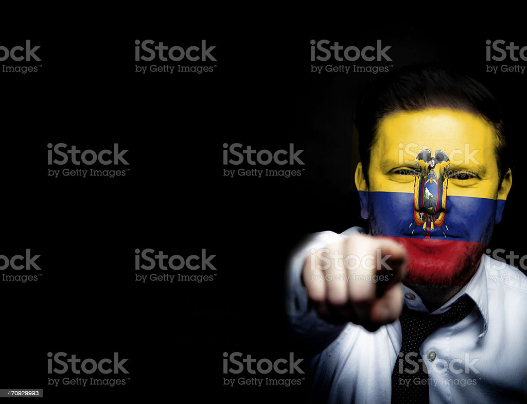 Ecuador Sport Soccer Fan royalty-free stock photo