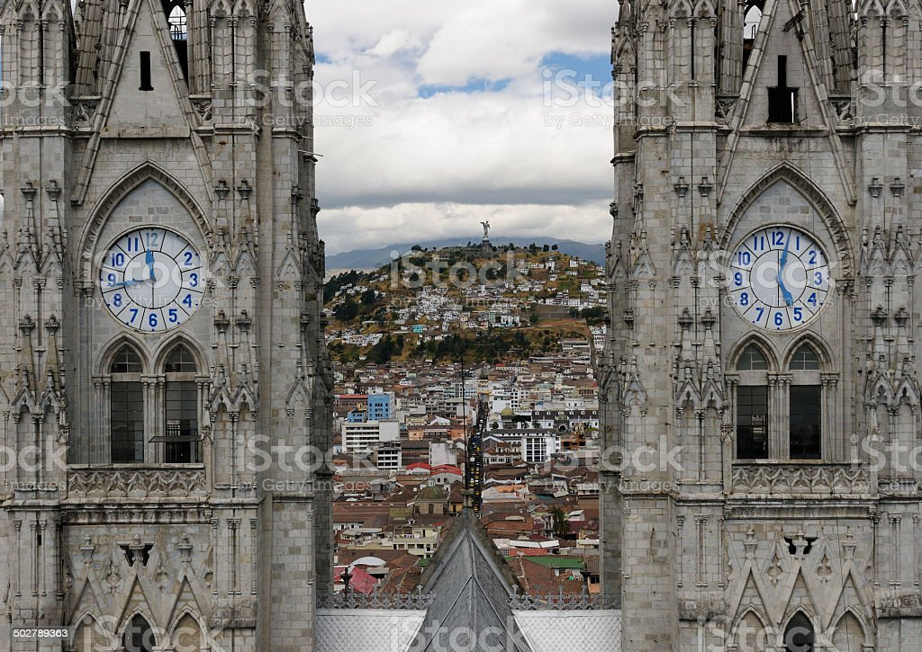 Ecuador, View on the Quito stock photo