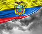 Ecuador waving flag on bad day