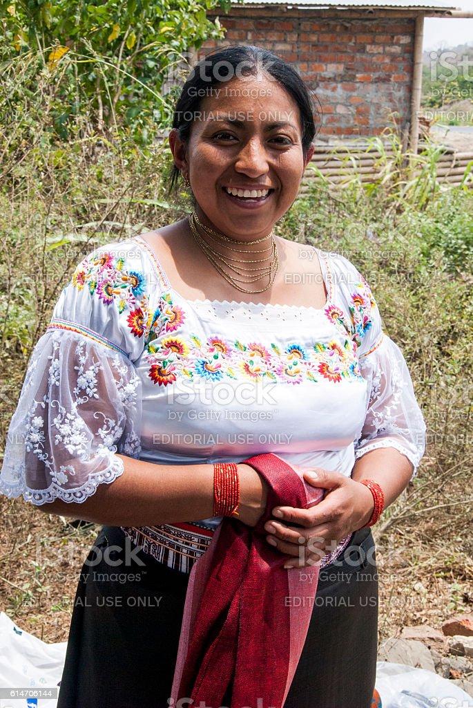 Ecuador Woman stock photo