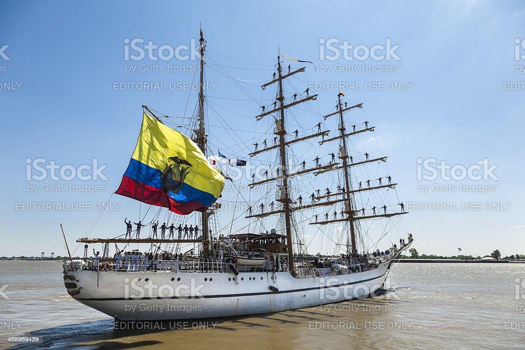 Ecuadoran Tall Ship Guayas stock photo