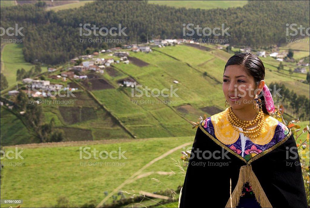 Ecuadoran Young Woman stock photo