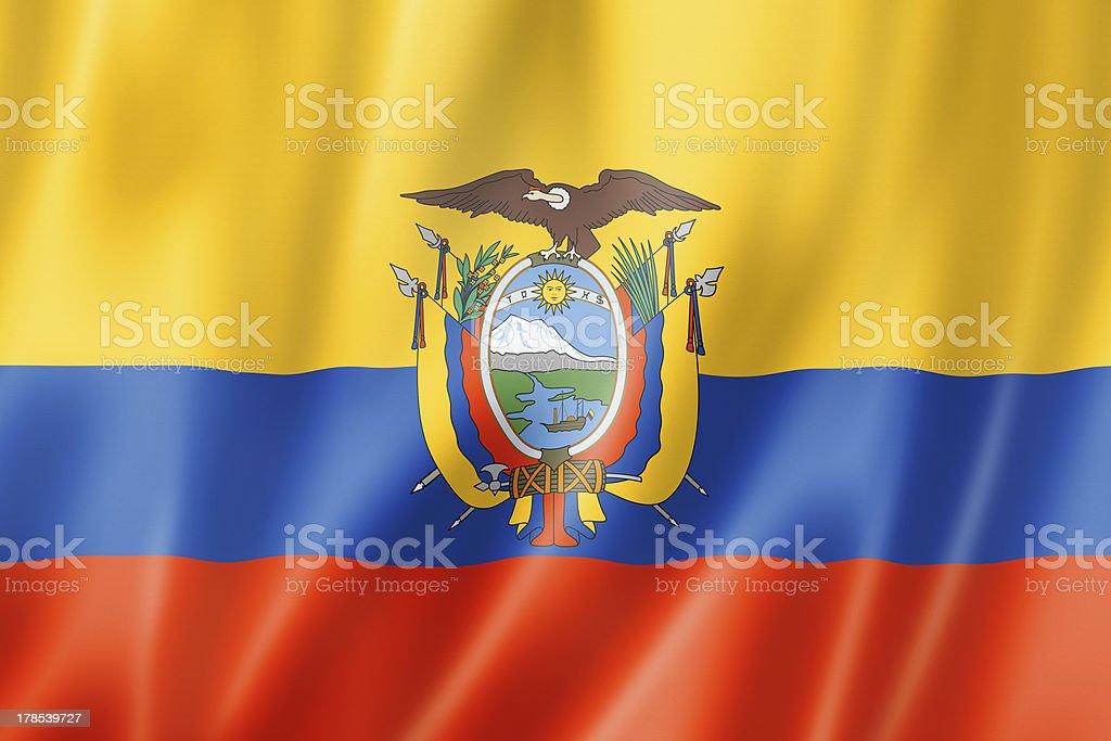 Ecuadorian flag royalty-free stock photo