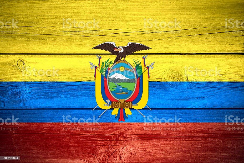 Ecuadorian flag stock photo