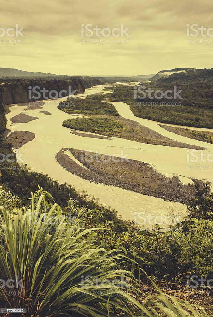 Ecuadorian Landscape stock photo