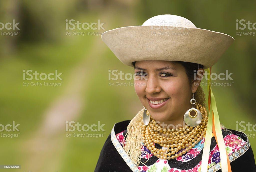 Ecuadorian young woman stock photo