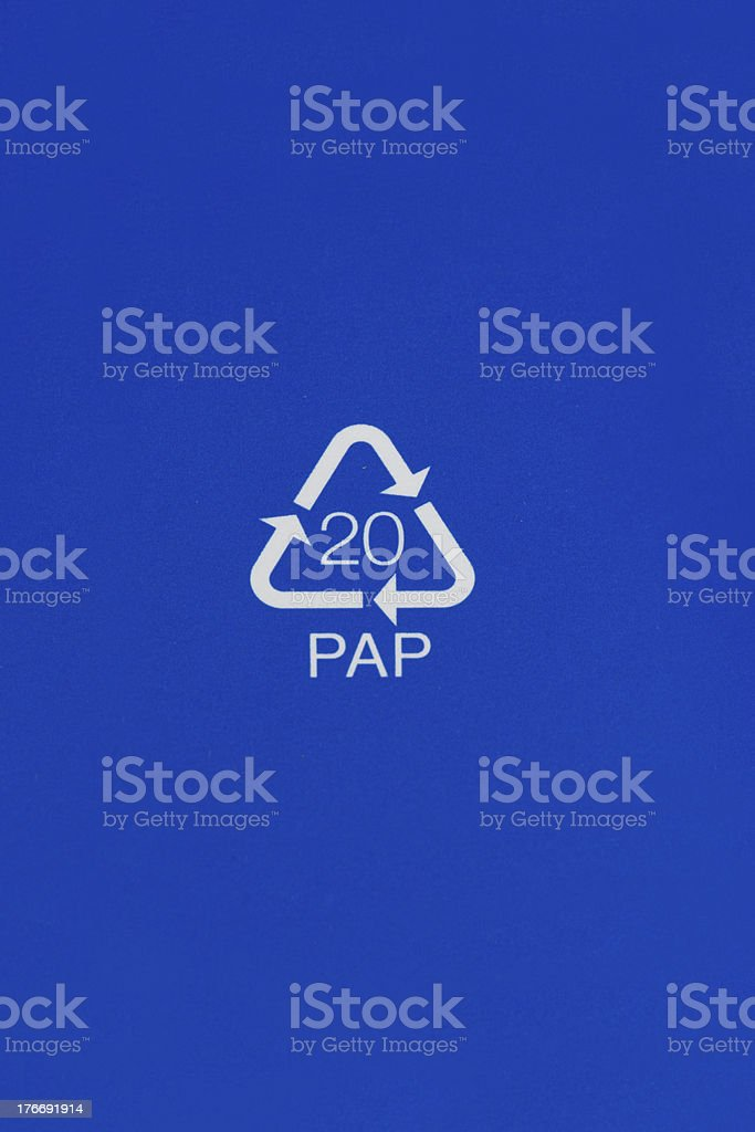 ecycling code identifying corrugated fiberboard material. royalty-free stock photo