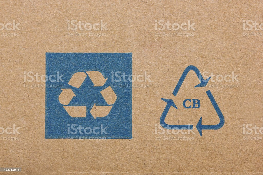 ecycling code on cardboard. royalty-free stock photo