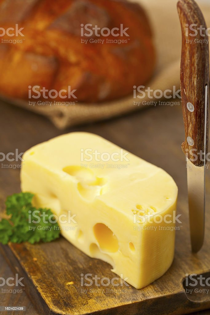 Edam cheese with bread royalty-free stock photo