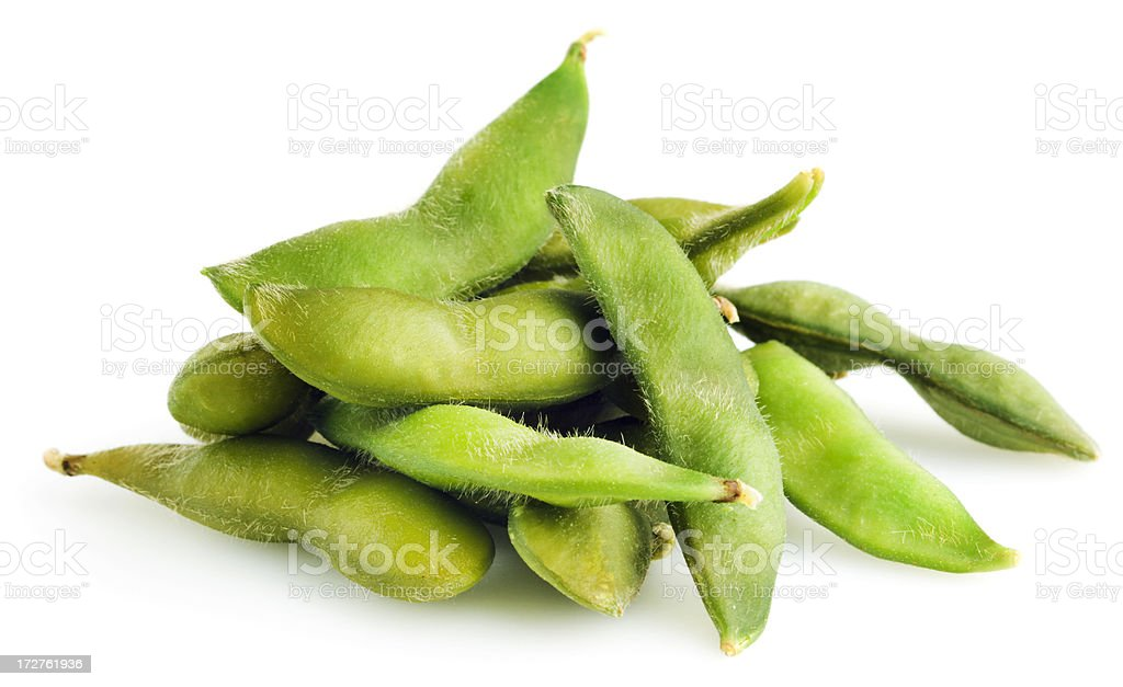 Edamame on White stock photo