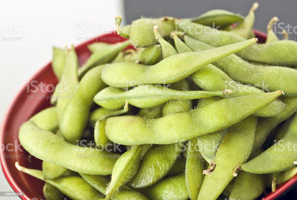 edamame (green soybeans) royalty-free stock photo