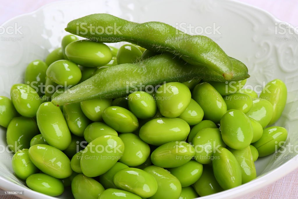 Edamame (Green soybeans) royalty-free stock photo