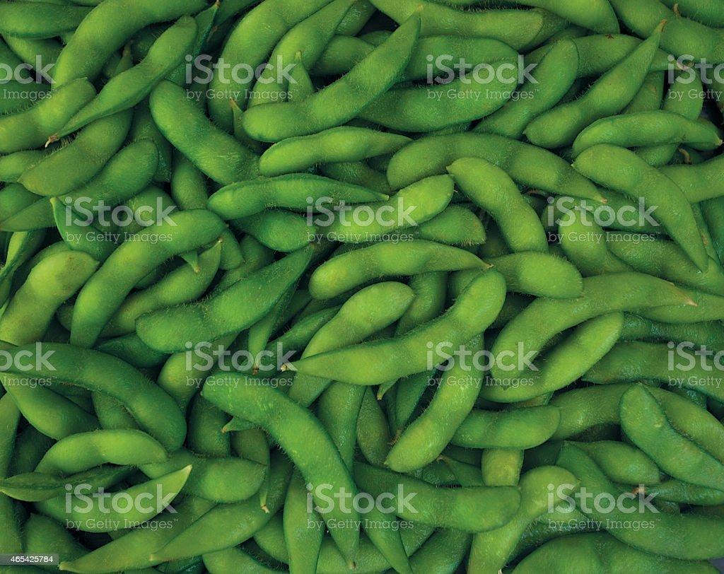 Edamame(green soybean) stock photo