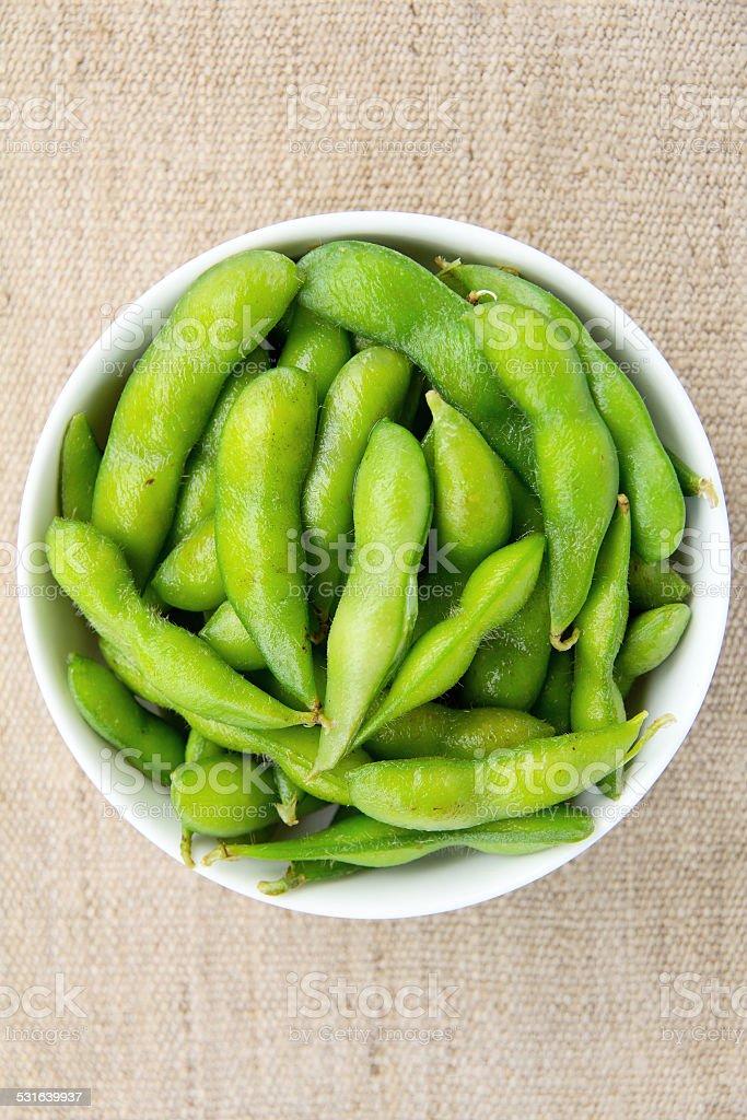 Edamame soy beans stock photo