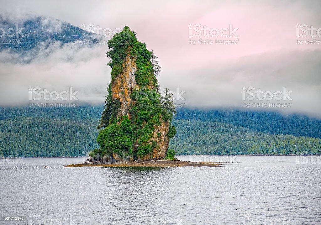 Eddystone Rock stock photo