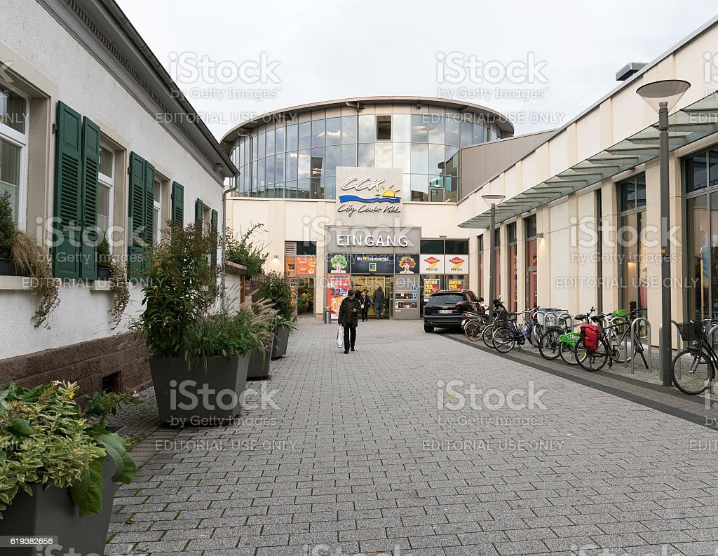 Edeka supermarket Germany main entrance stock photo
