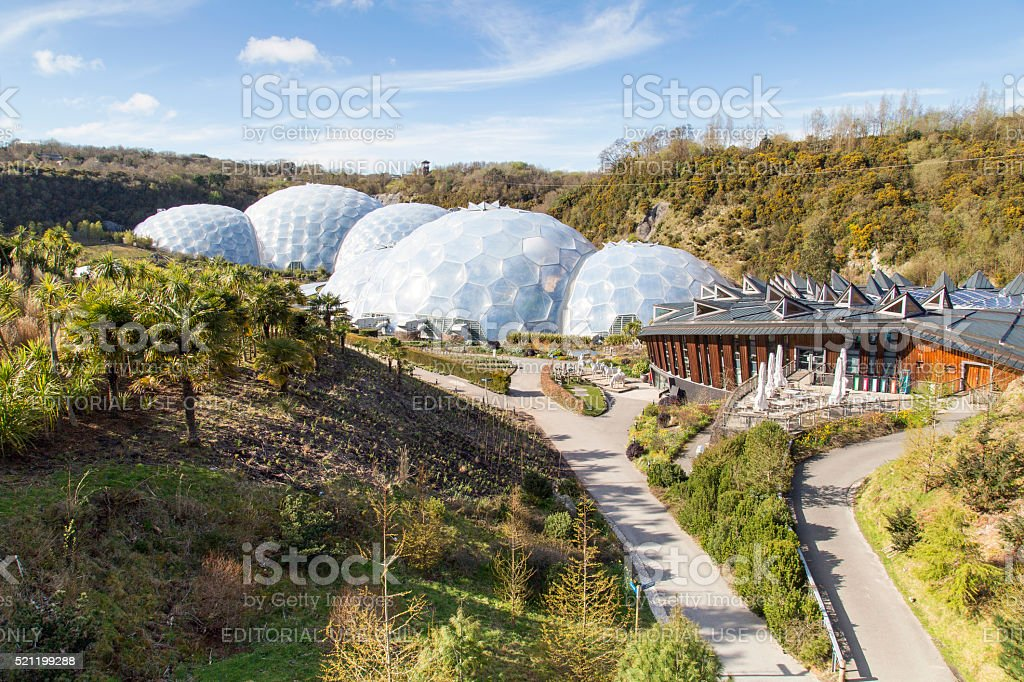 Eden Project - Cornwall stock photo