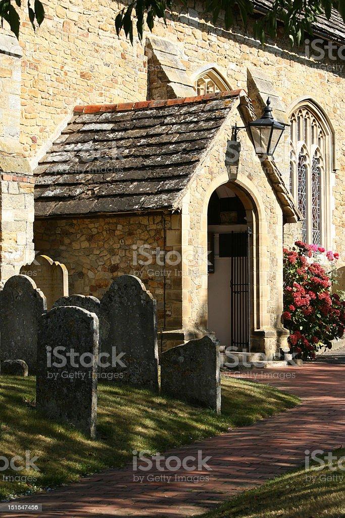 Edenbridge Church Porch stock photo