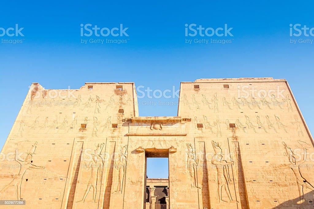 Edfu Temple, Egypt stock photo