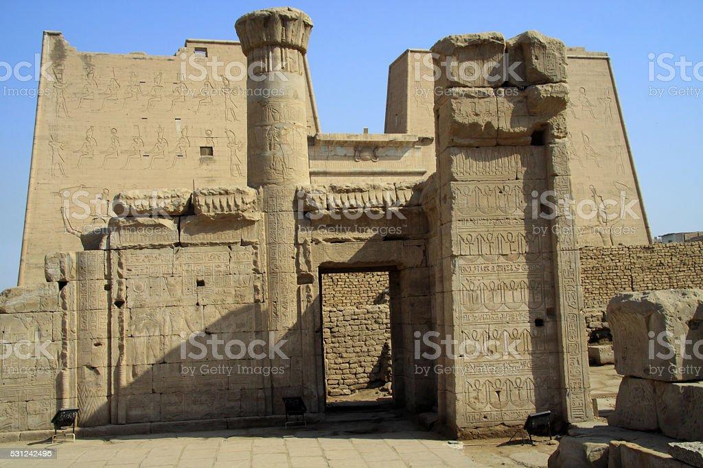 Edfu Temple in Egypt stock photo