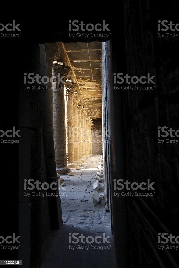 Edfu temple royalty-free stock photo