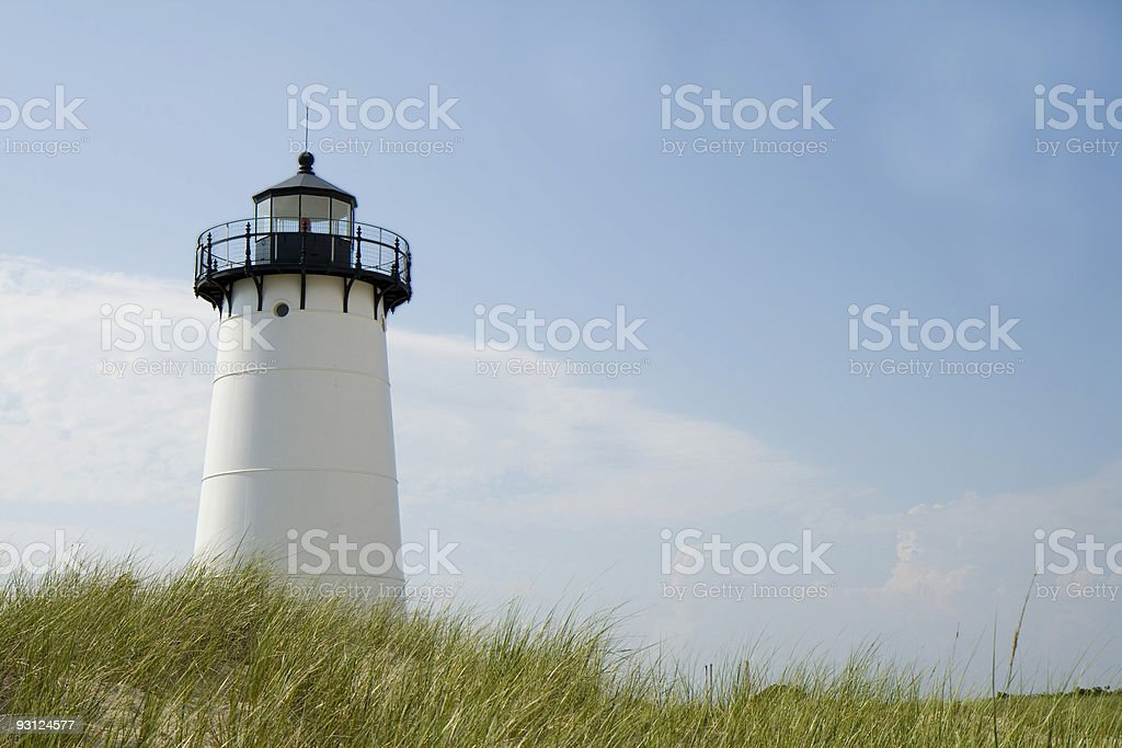 Edgar Harbor Light House Martha's vineyard stock photo