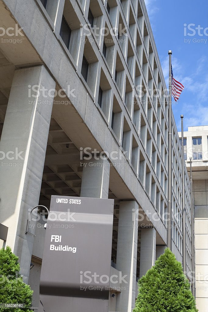 J. Edgar Hoover Building, FBI Headquarters, Washington DC stock photo