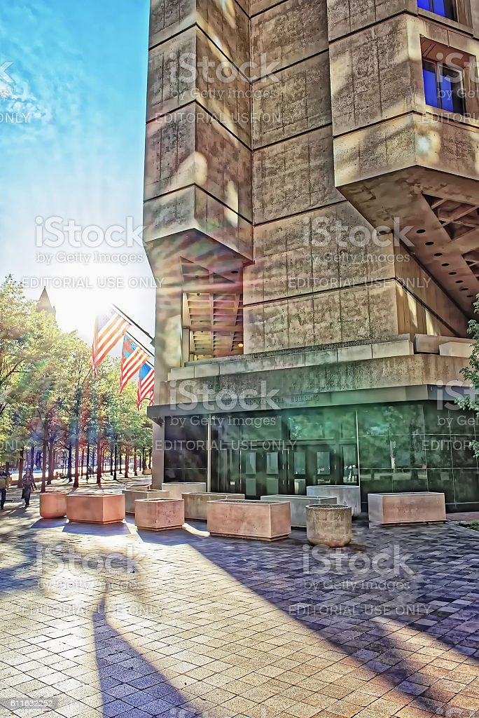 J Edgar Hoover Building in Washington DC stock photo