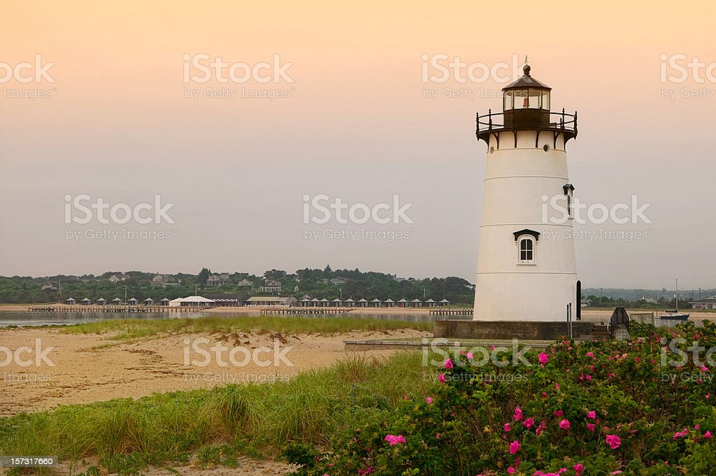 Edgartown Lighthouse stock photo