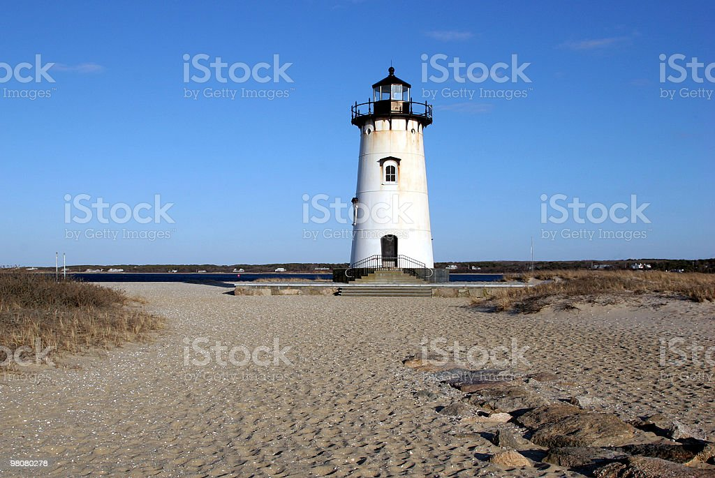 Edgartown Lighthouse royalty-free stock photo