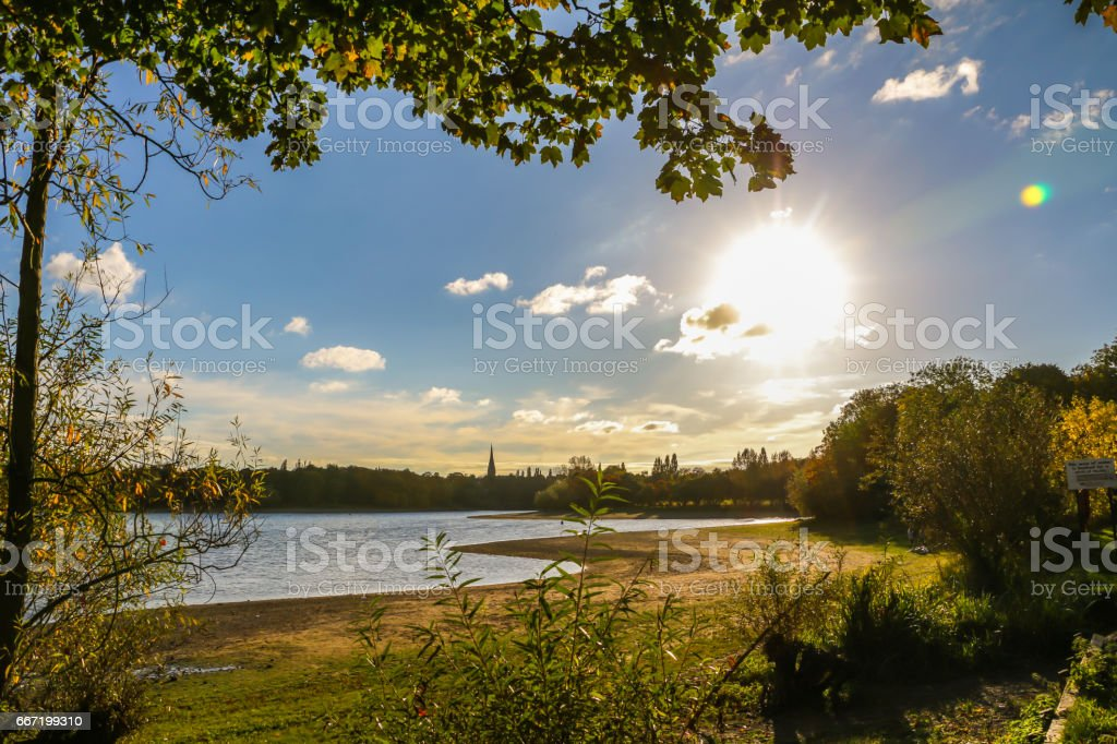 Edgbaston Reservoir stock photo