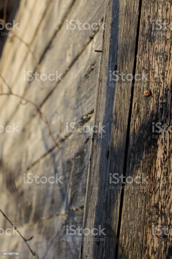 Edge of a Old Grainery stock photo