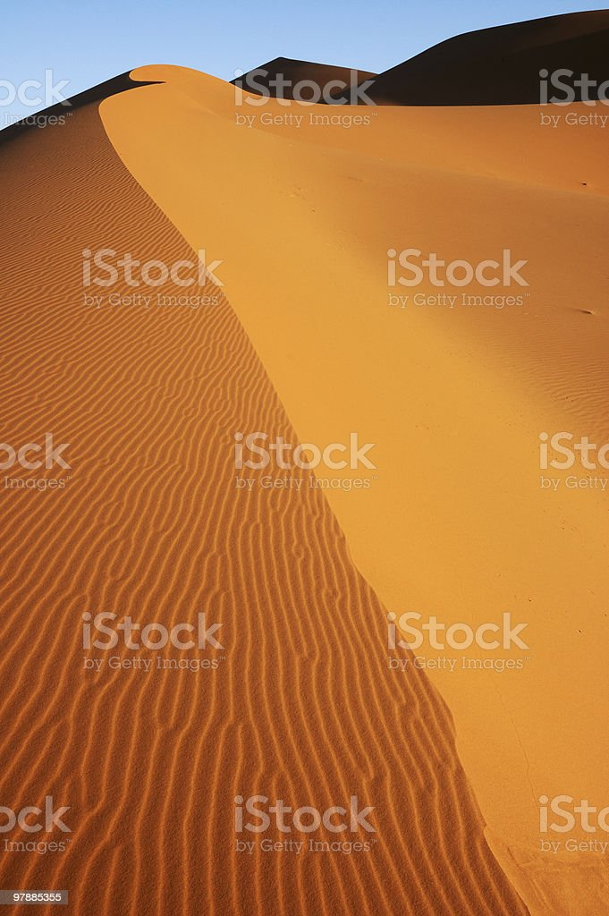 Edge of dune stock photo