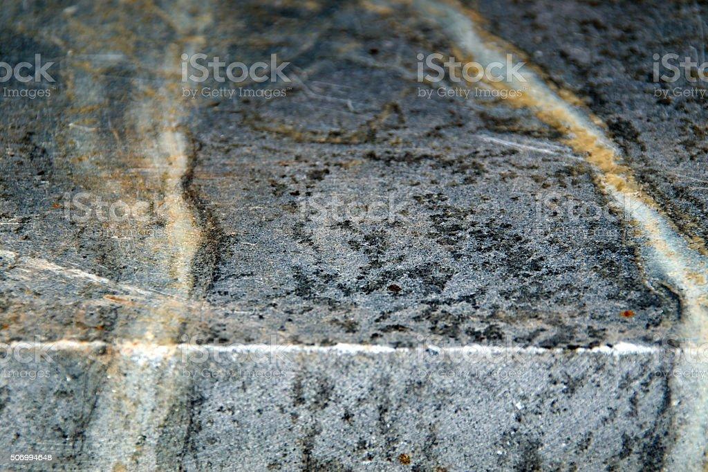 edge of soapstone slab stock photo
