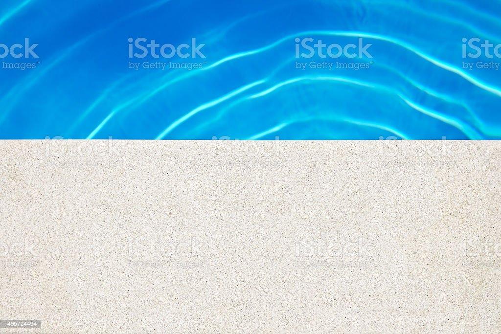 Edge Of Swimming Pool stock photo