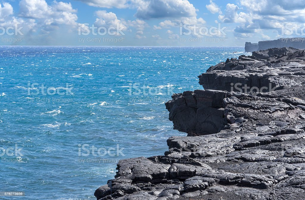 Edge of the island stock photo