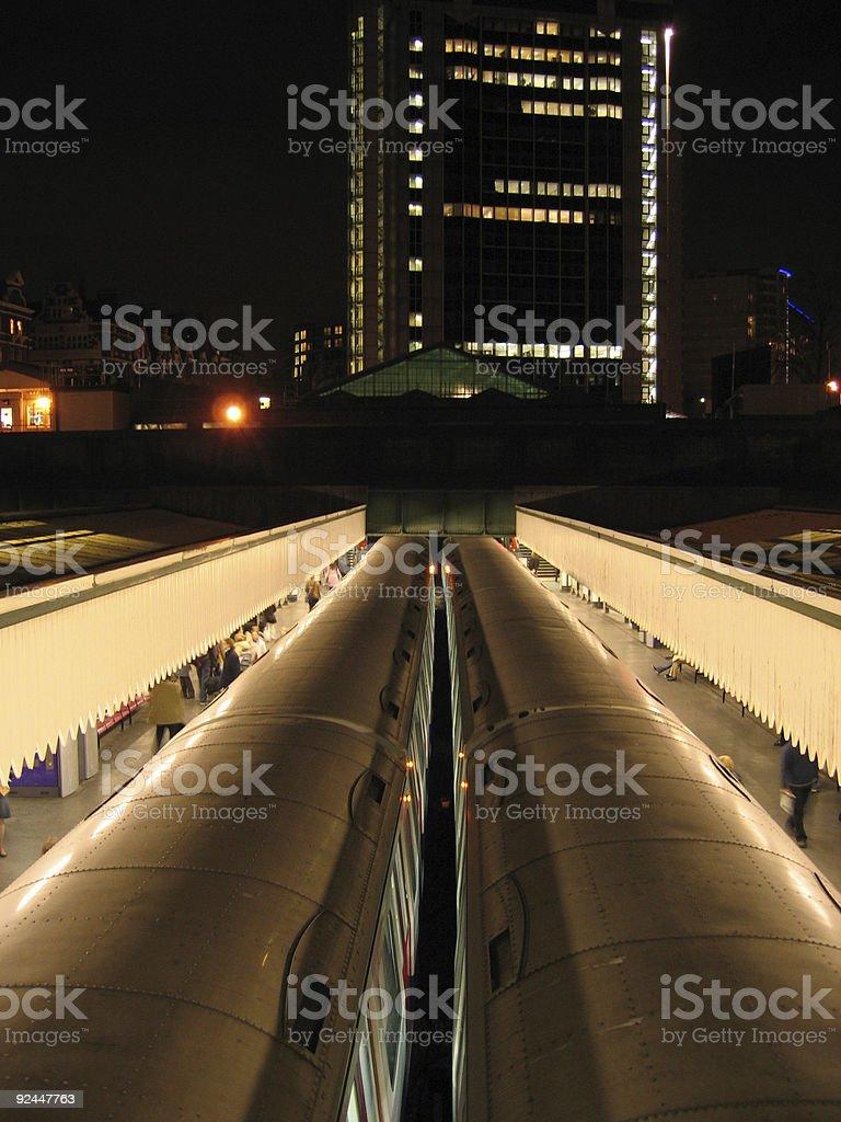 edge of the night london underground uk royalty-free stock photo