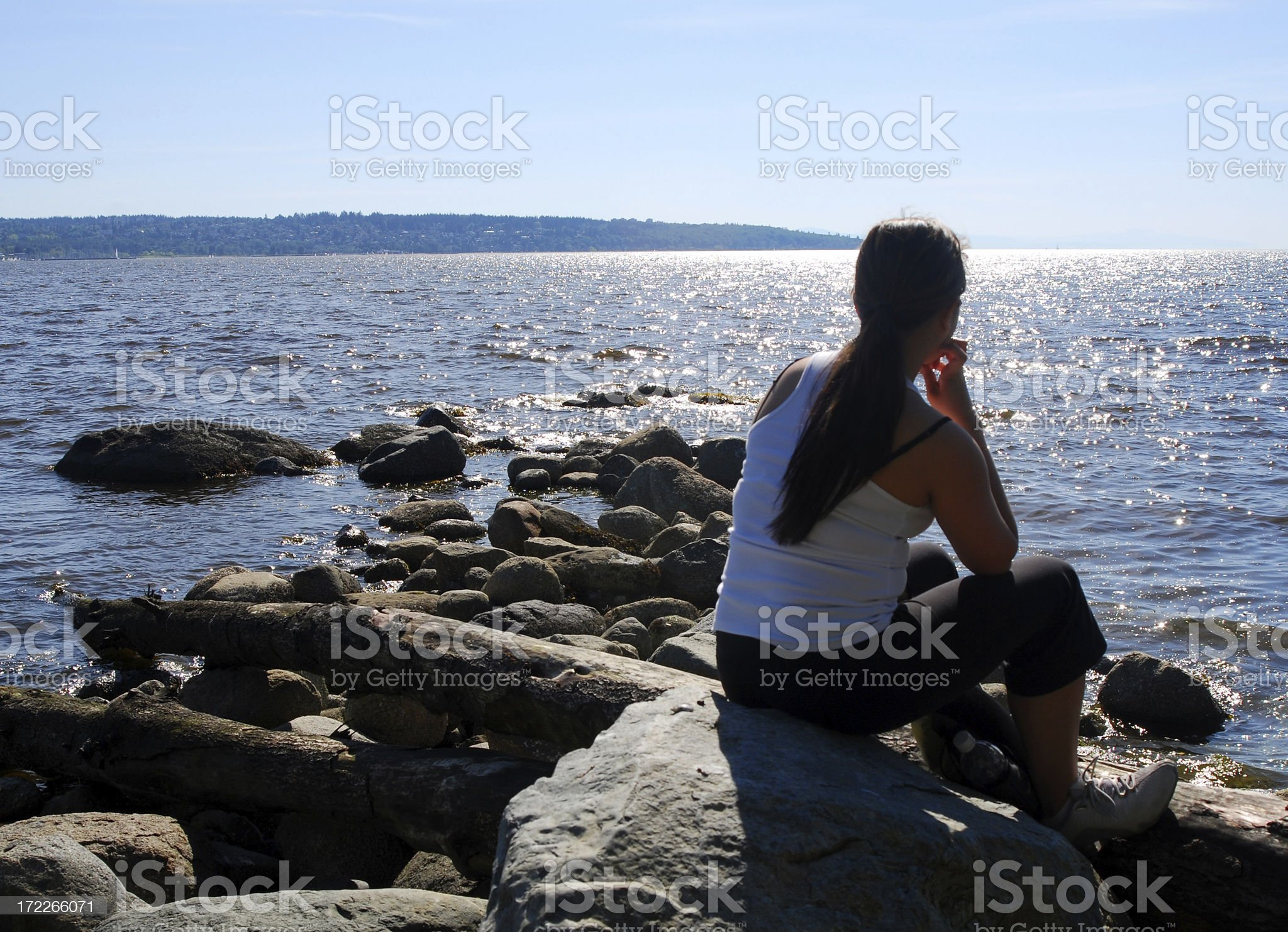 Edge of the Ocean royalty-free stock photo
