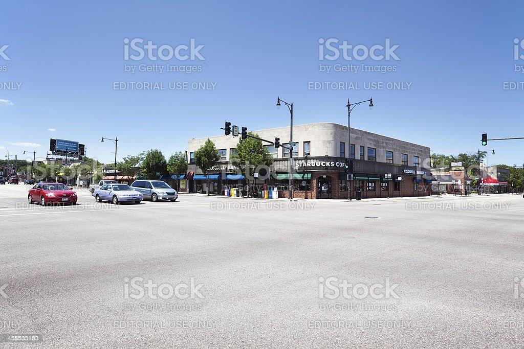 Edgebrook neighborhood of Forest Glen, Chicago royalty-free stock photo