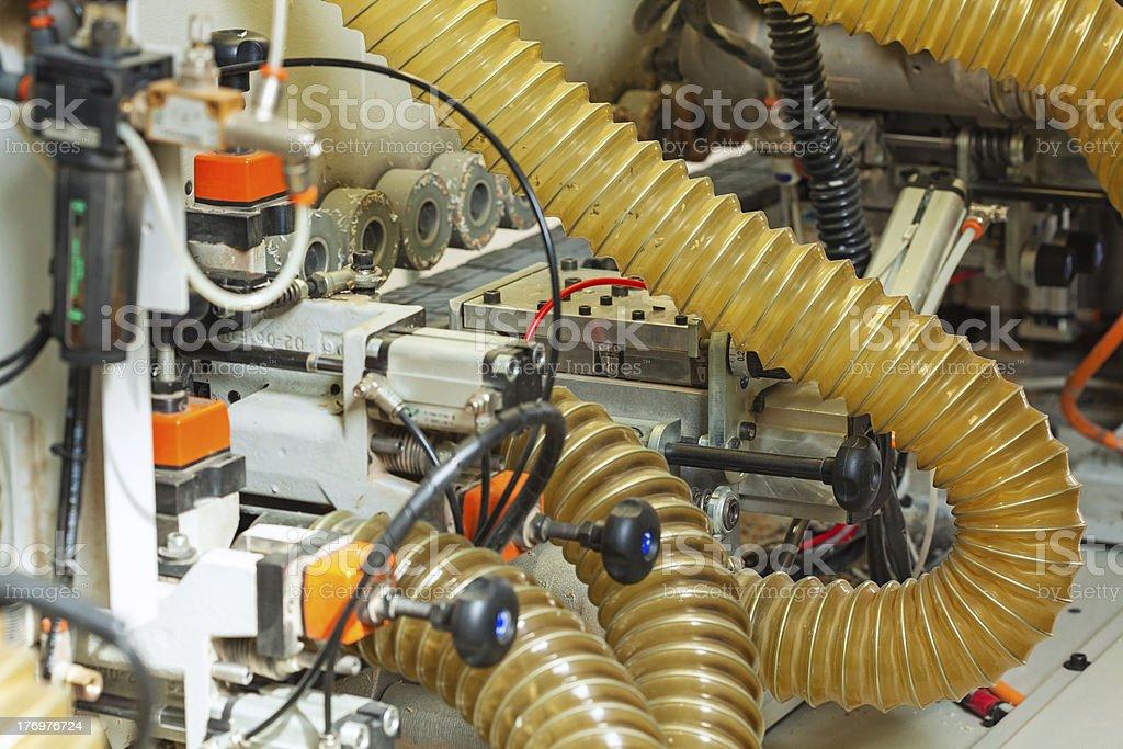 Edging strip machine stock photo