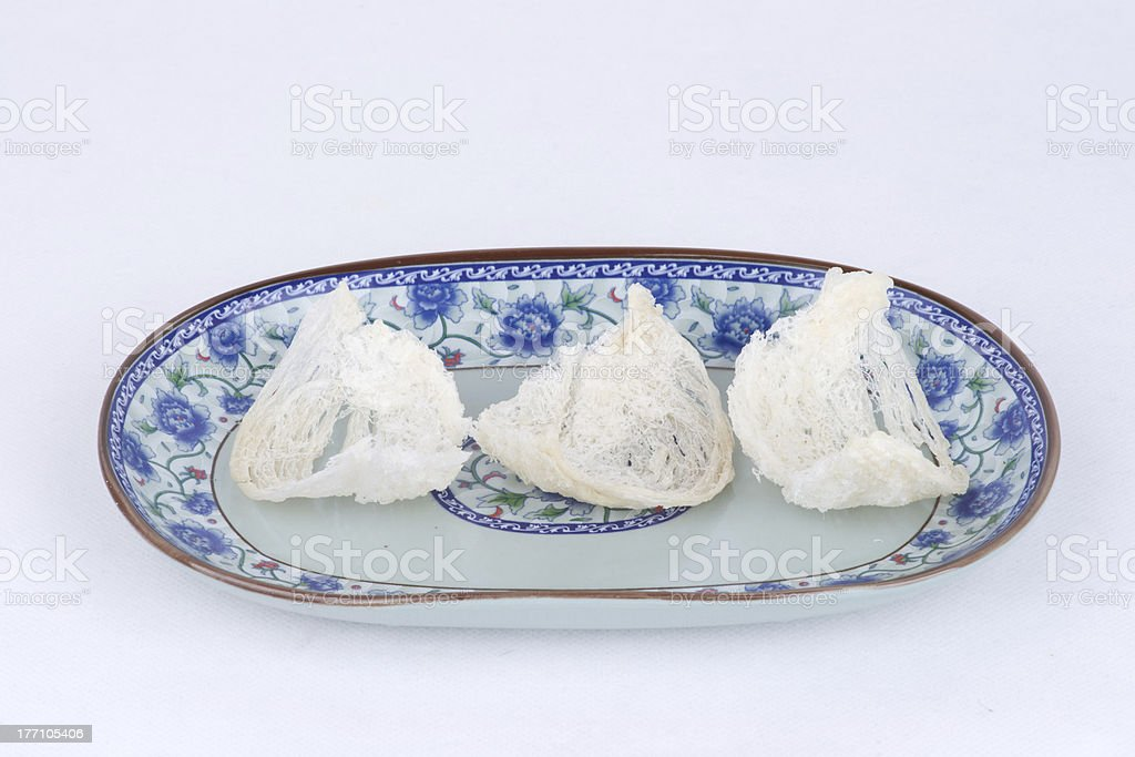 Edible bird's nest in plate royalty-free stock photo