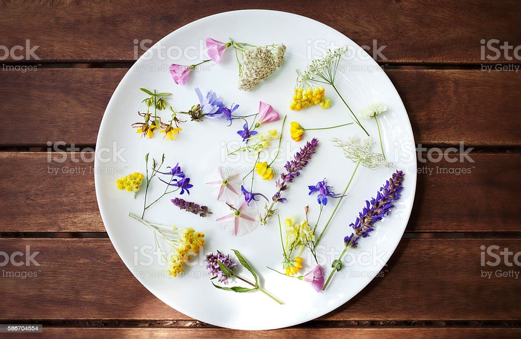 Edible Flowers stock photo