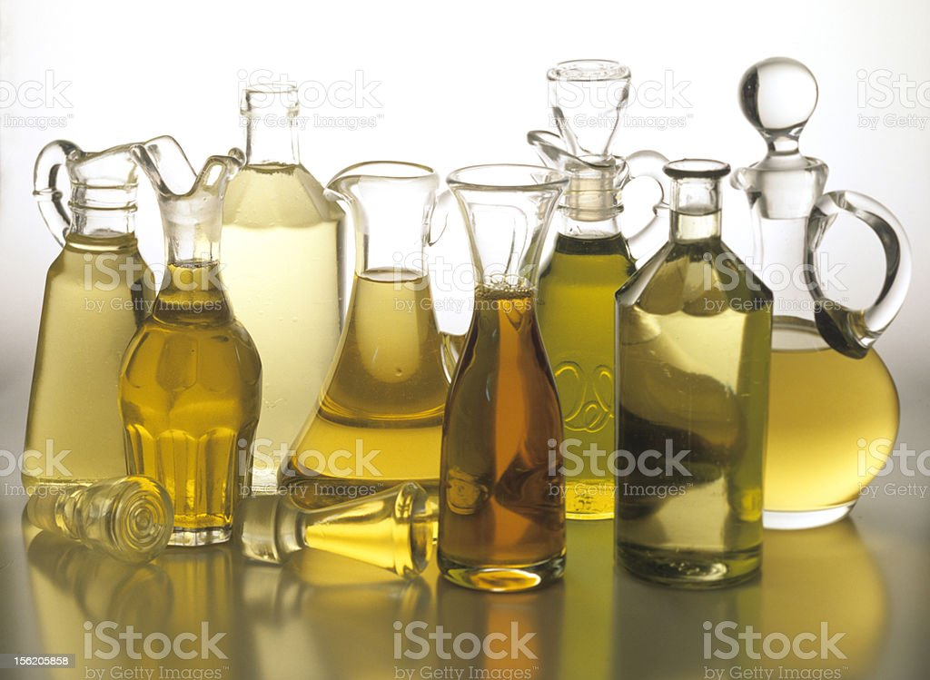 edible oils stock photo