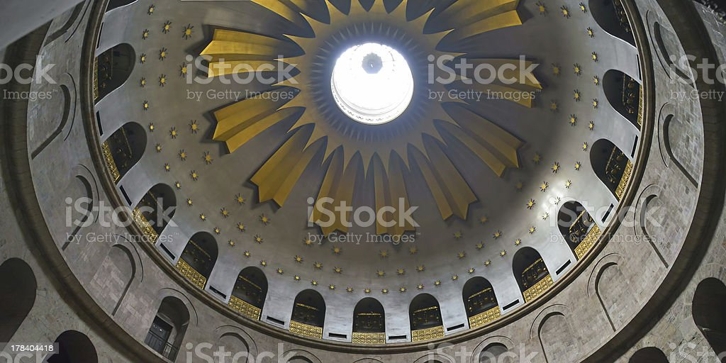 Edicule in the Holy Sepulchre royalty-free stock photo